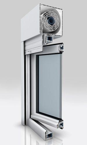persiana integrada kommerling ventana pvc